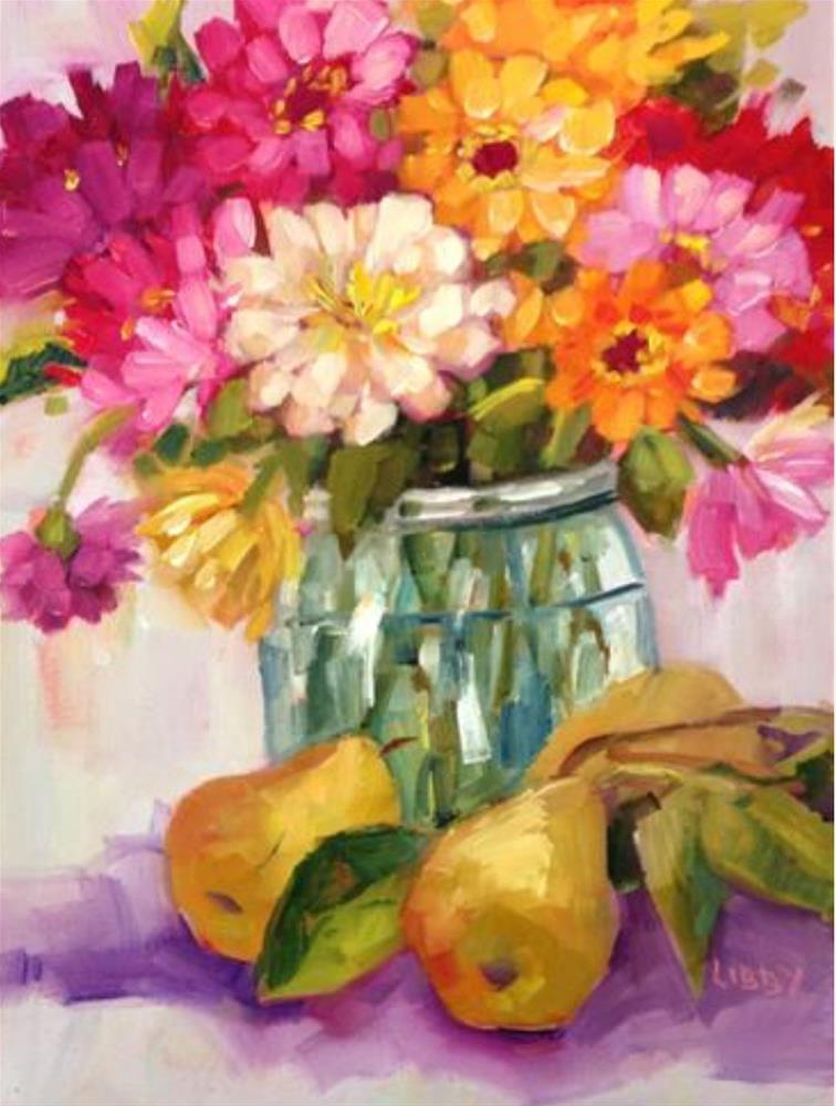 """""""Busy Work"""" original fine art by Libby Anderson"""