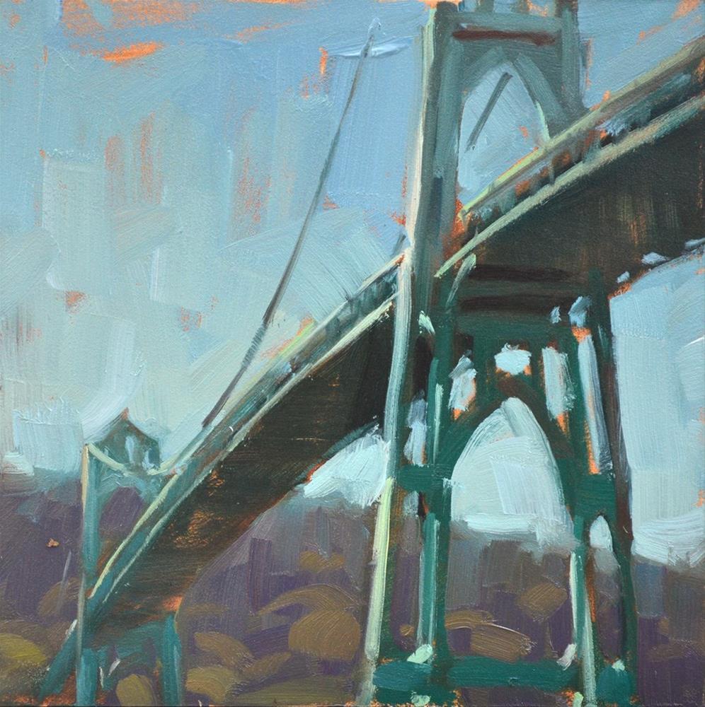 """""""Portland Skyway"""" original fine art by Carol Marine"""