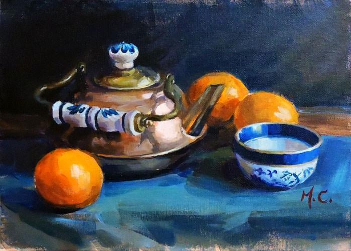 """""""Copper Pot"""" original fine art by Michelle chen"""