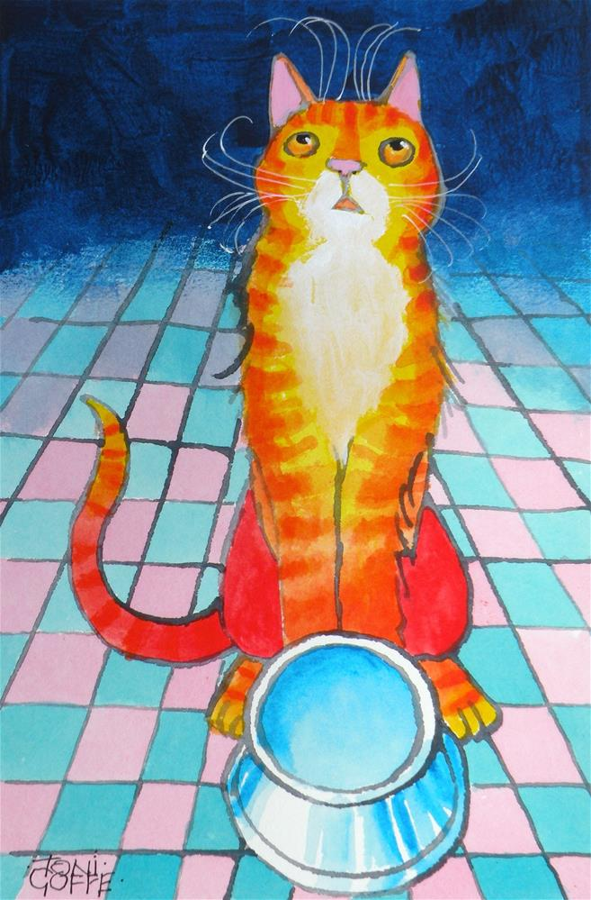"""""""There is no food on this dish !"""" original fine art by Toni Goffe"""