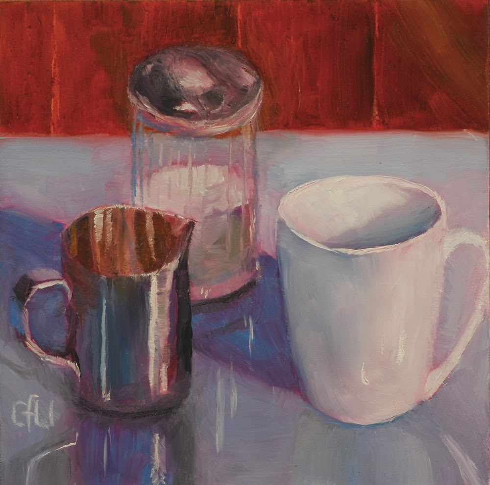 """""""Coffee At The Diner"""" original fine art by Gary Westlake"""
