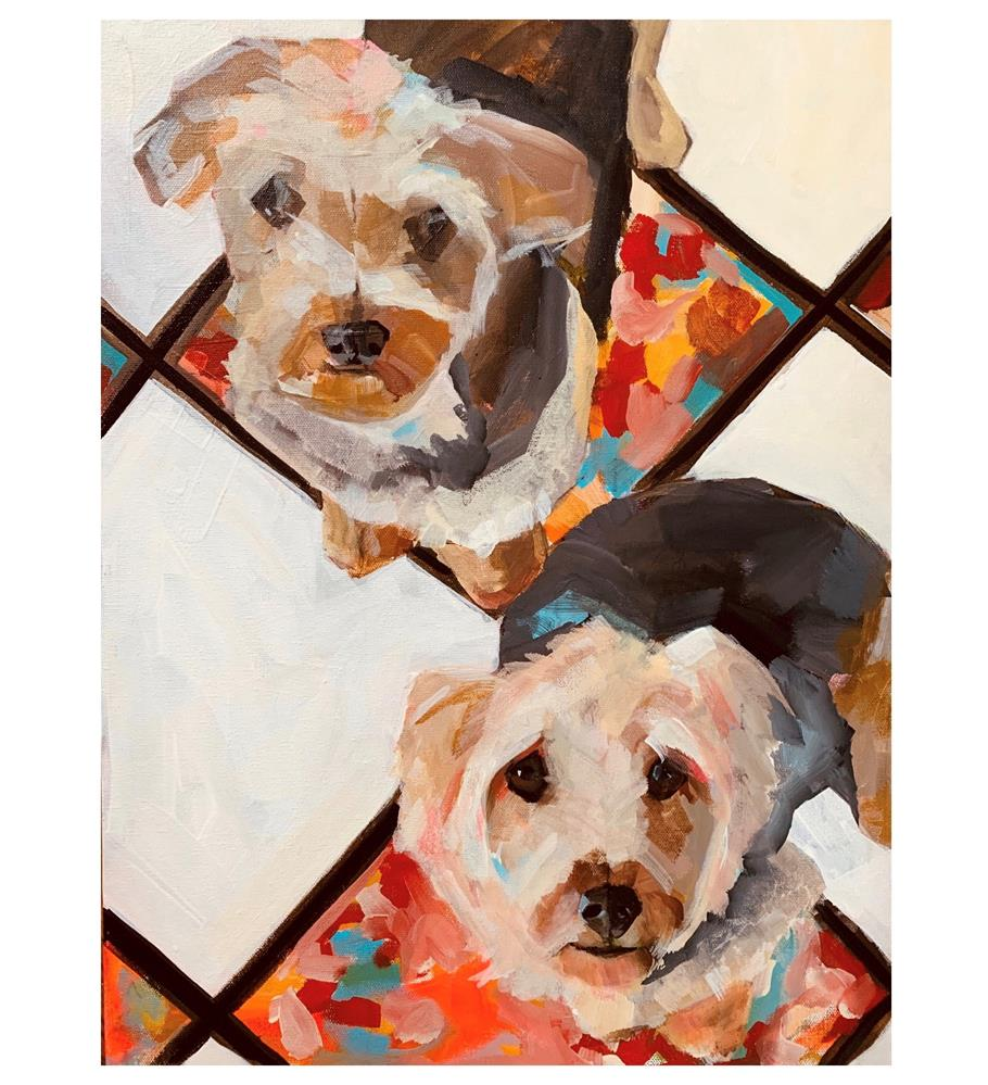"""718 The Brothers Karamazov"" original fine art by Jenny Doh"