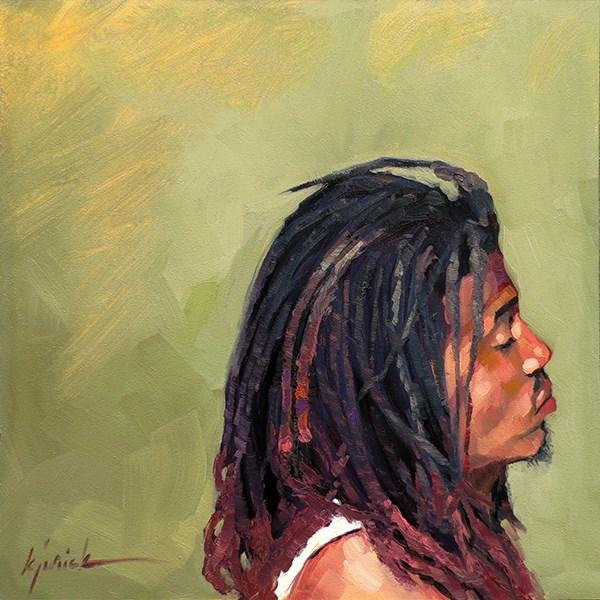 """200 Faces, No. 129"" original fine art by Karin Jurick"