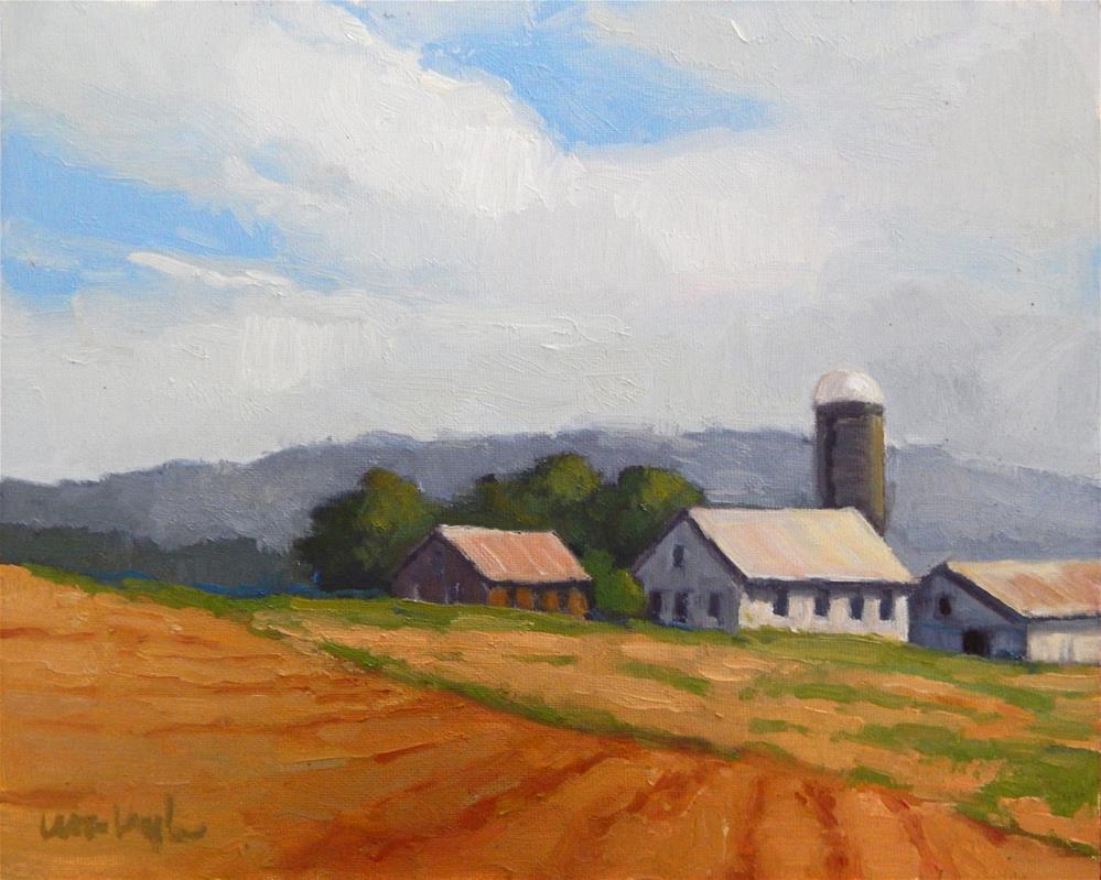 """Hilltop Farm"" original fine art by Lisa Kyle"