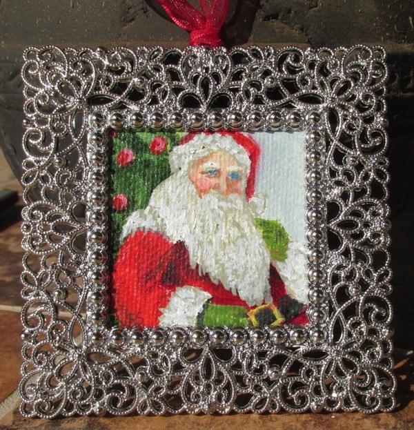 """Old St. Nick Ornament"" original fine art by Ruth Stewart"