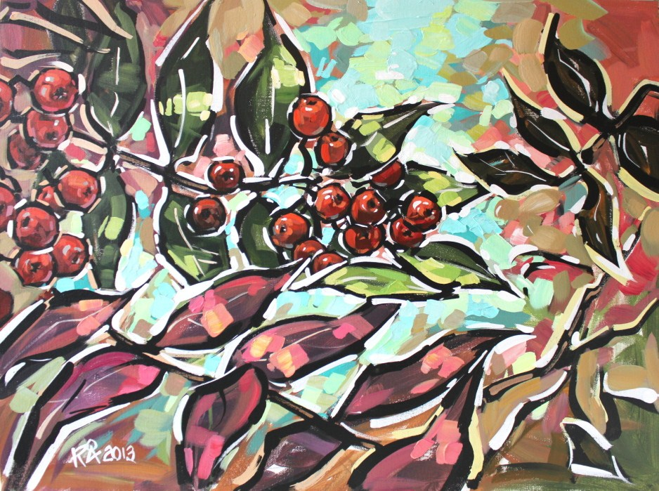 """Rowan Berries 14"" original fine art by Roger Akesson"