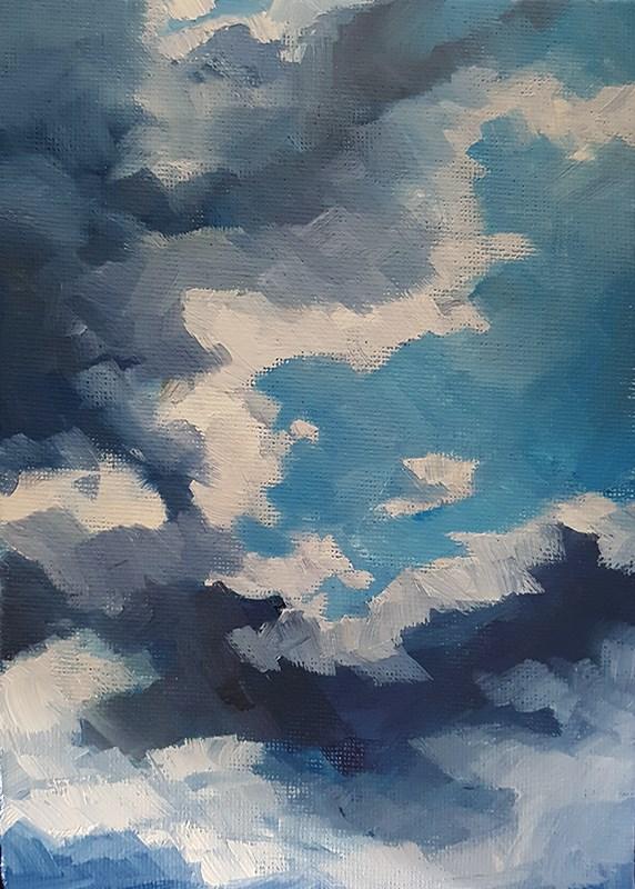 """Summer Cloud Study"" original fine art by J M Needham"