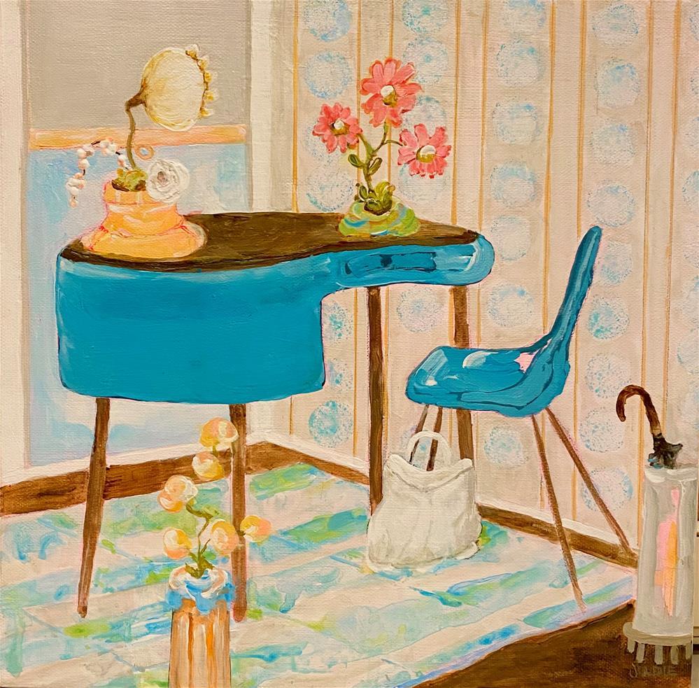 """""""MID-CENTURY REVISITED"""" original fine art by Judie Mulkey"""