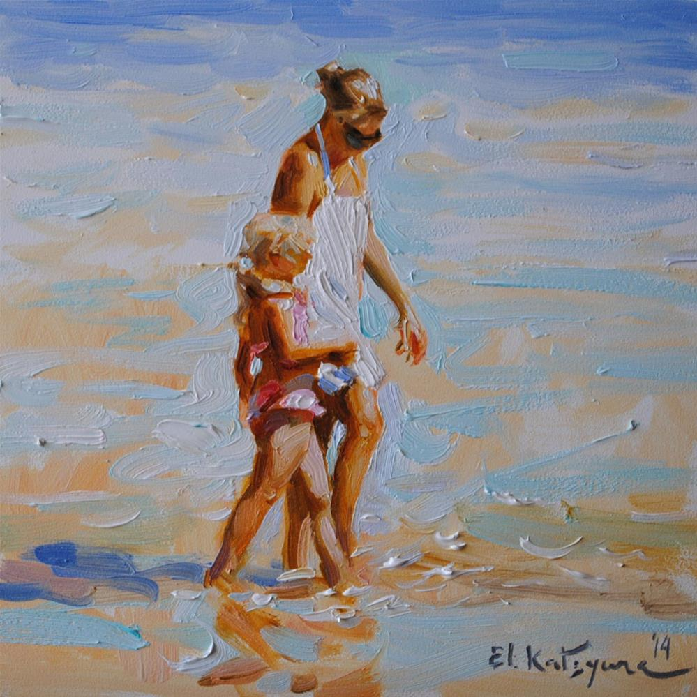 """A Walk By the Ocean"" original fine art by Elena Katsyura"