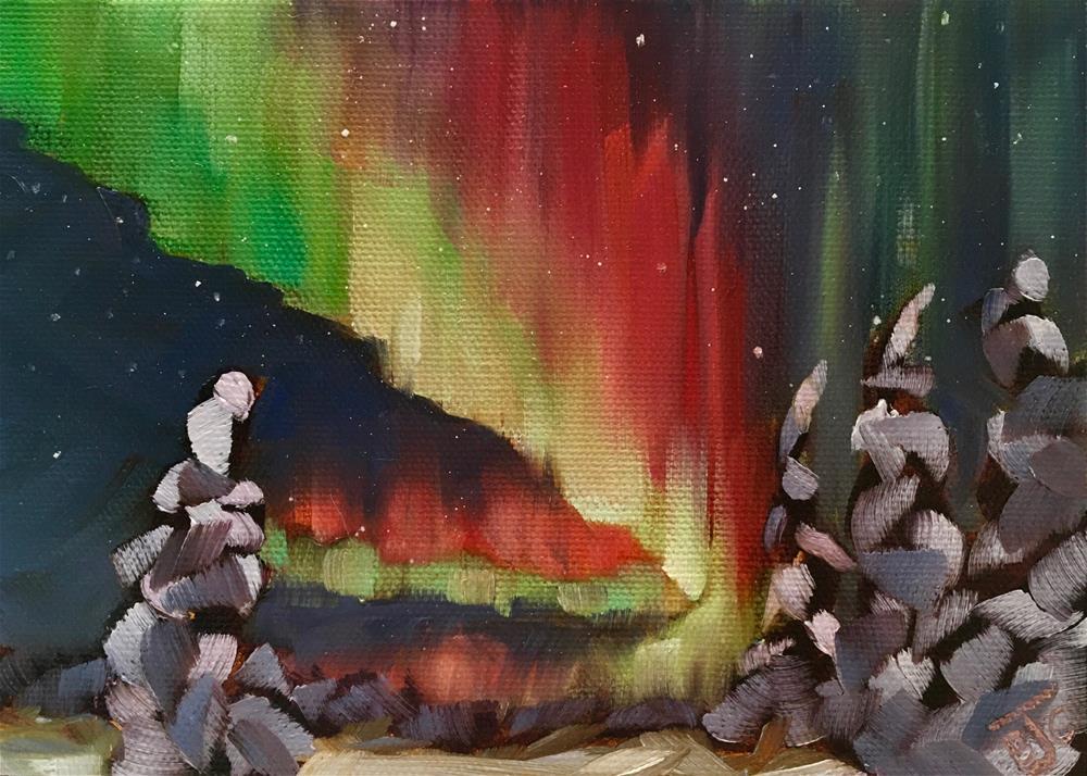 """""""Light Up the Night"""" original fine art by Bobbie Cook"""