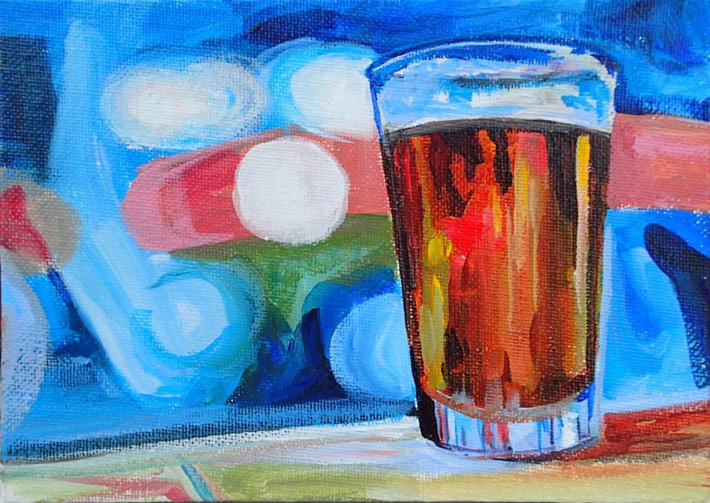 """""""Happy Hour"""" original fine art by Lauren Kuhn"""