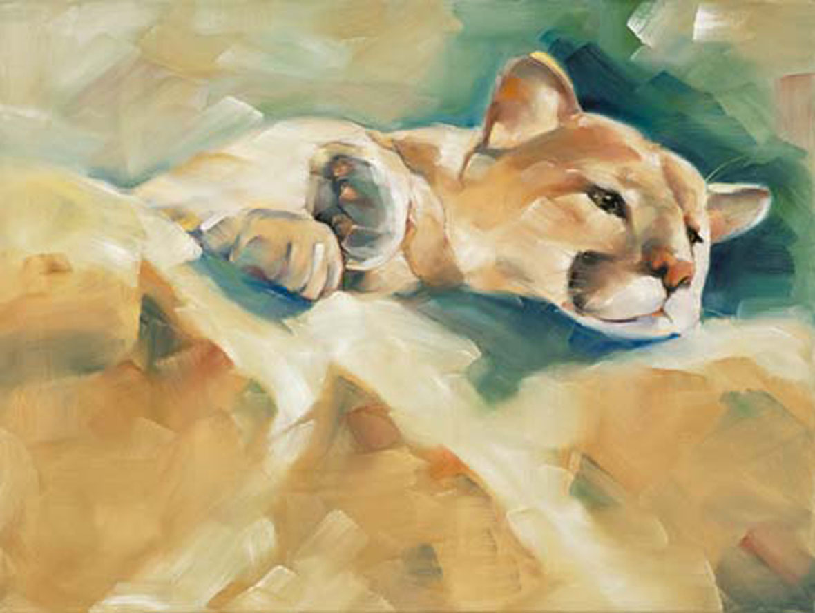 """Cougar Cub"" original fine art by Cheryl Wilson"
