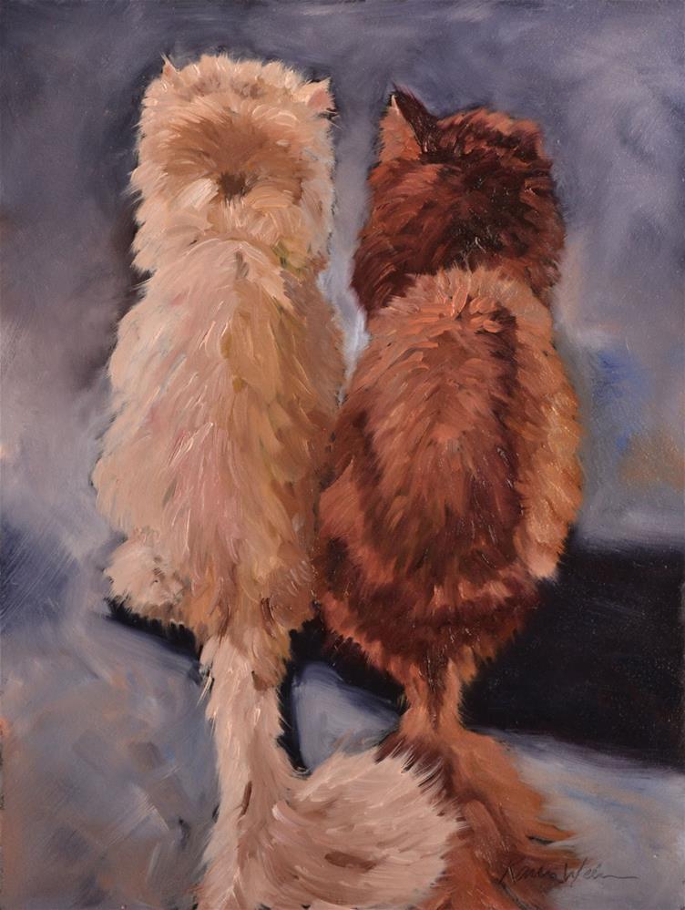"""""""Friends"""" original fine art by Karen Weber"""