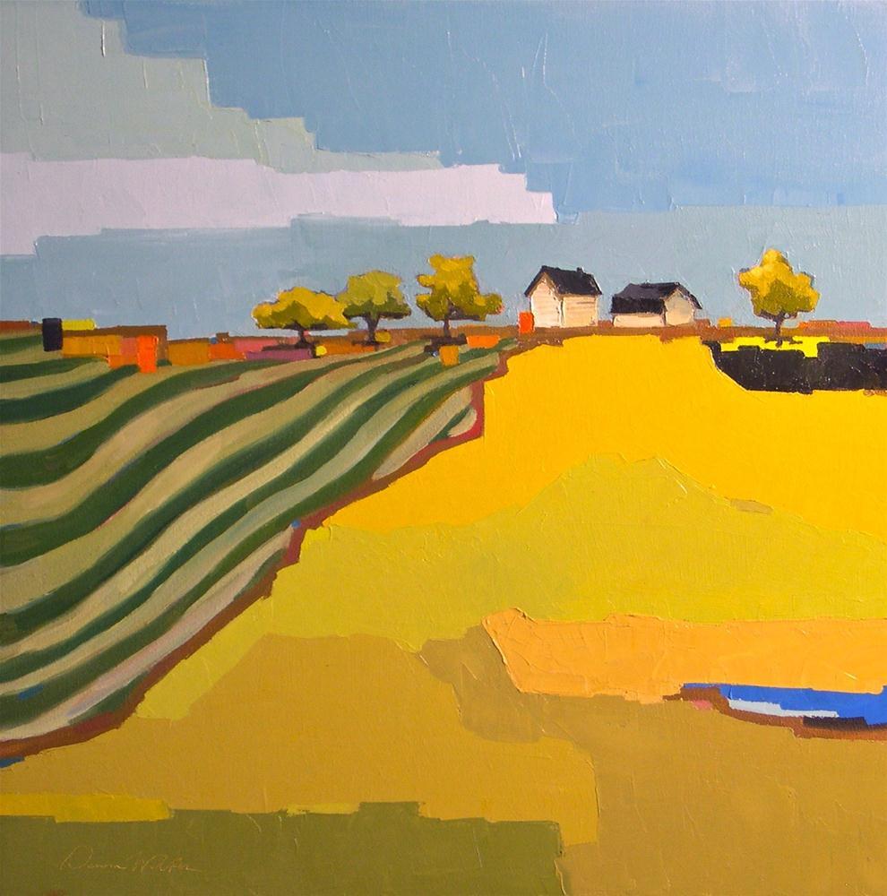 """Geometric Farm"" original fine art by Donna Walker"
