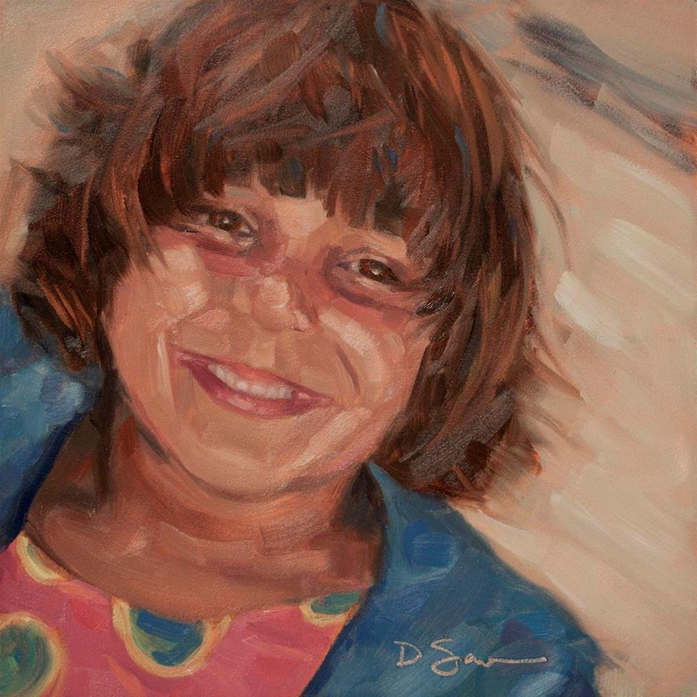 """""""Eyes of Love No.7 Annie"""" original fine art by Deborah Savo"""