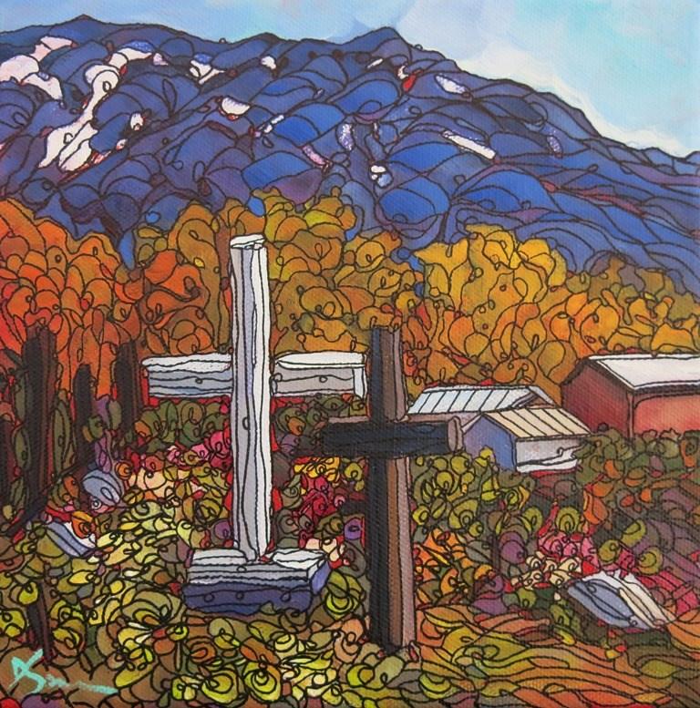 """""""125 SNOWCAPPED"""" original fine art by Dee Sanchez"""