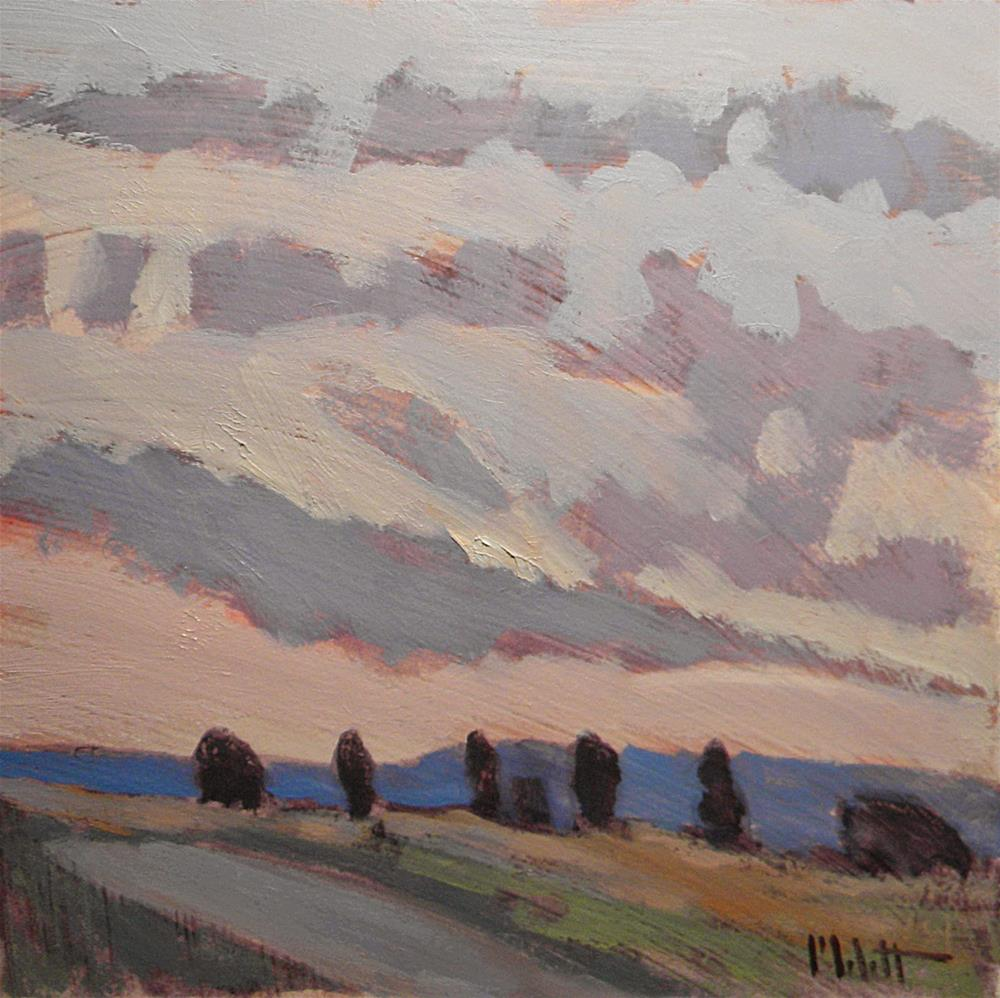 """Violet Clouds at Dusk Contemporary Impressions"" original fine art by Heidi Malott"
