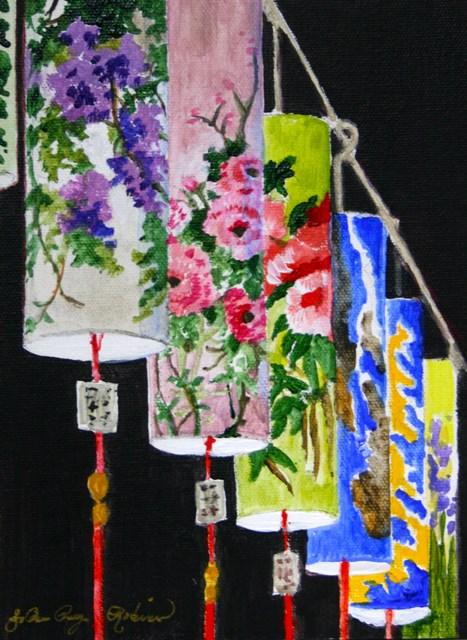 """Chinese Lanterns"" original fine art by JoAnne Perez Robinson"