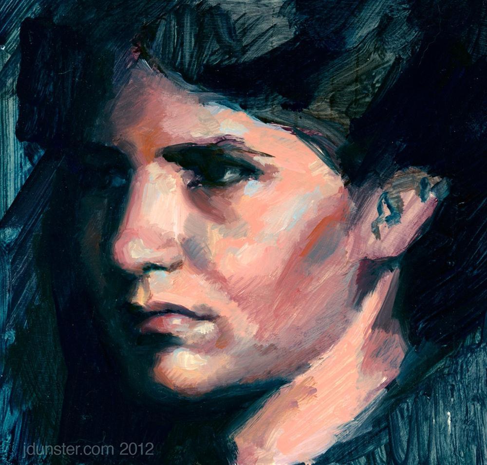 """Deep Shadows"" original fine art by J. Dunster"