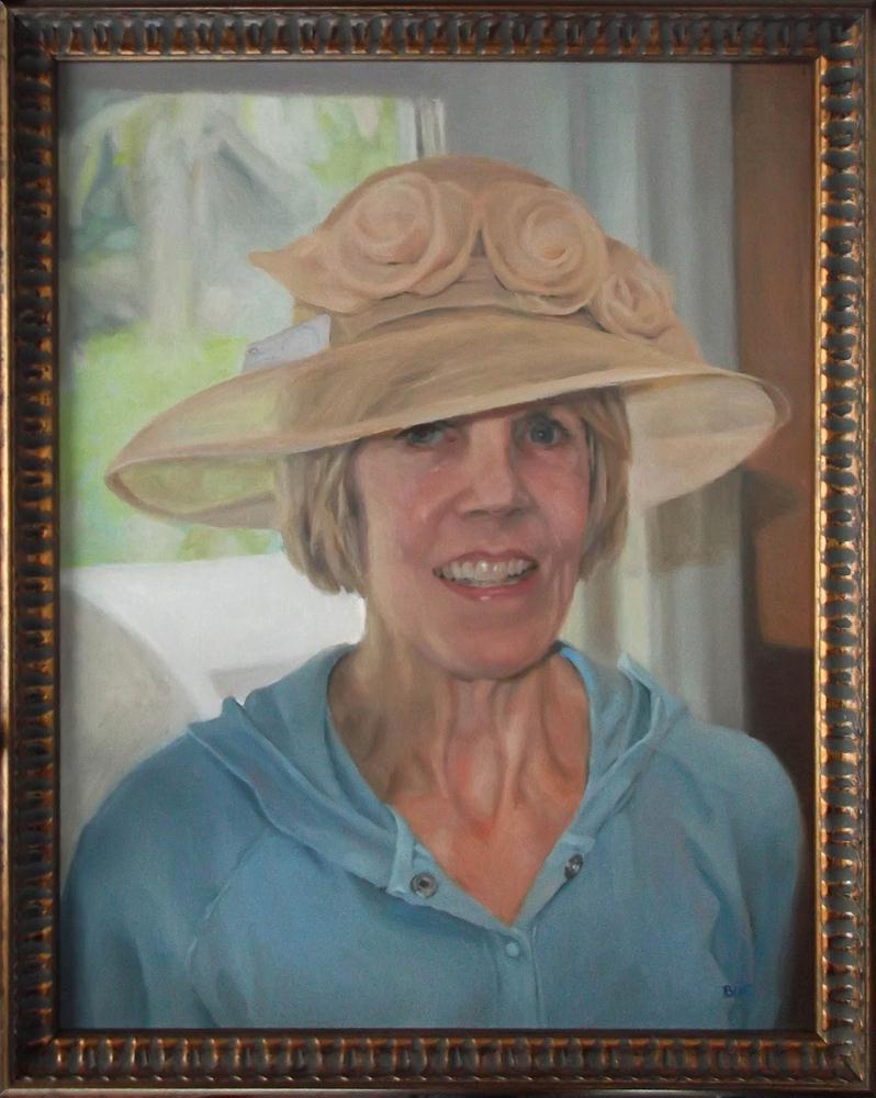"""Carole ~ New Hat for the Derby"" original fine art by Karen Boe"
