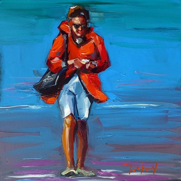 """Spaziergang am Wasser"" original fine art by Jurij Frey"