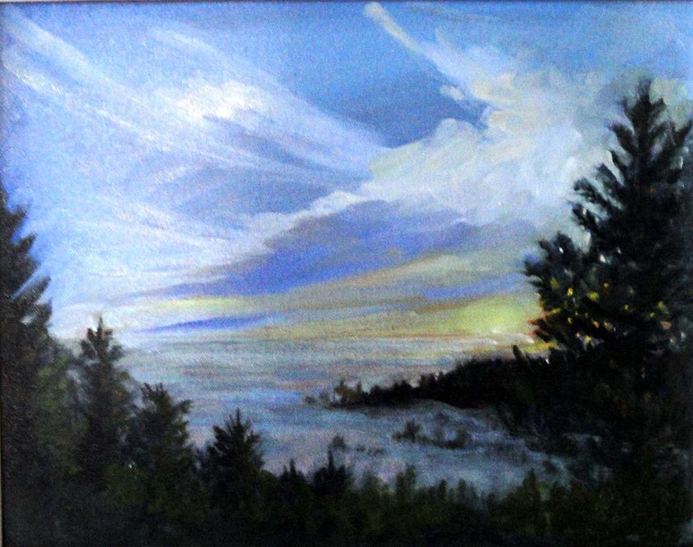 """Sunset on Fog"" original fine art by Cietha Wilson"
