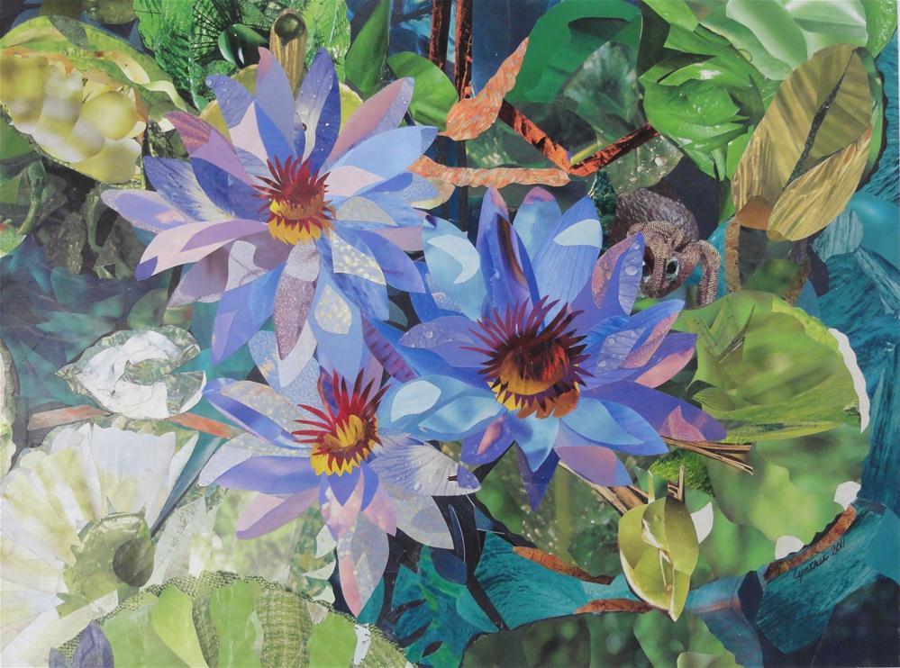 """Pond Lilies"" original fine art by Cynthia Frigon"