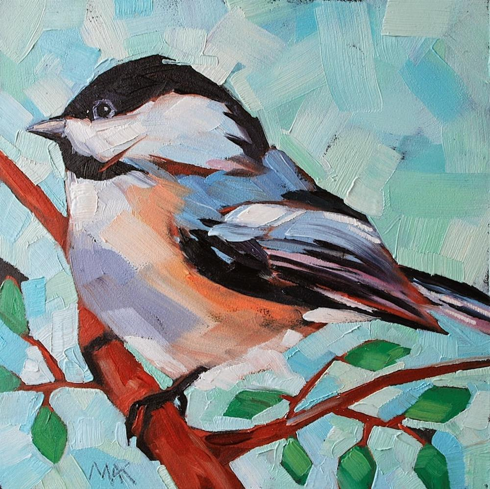 """Chickadee 2"" original fine art by Mary Anne Cary"