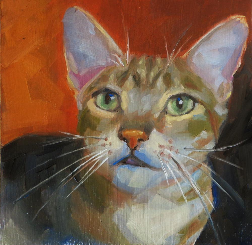 """""""Cautious"""" original fine art by Maria Z."""
