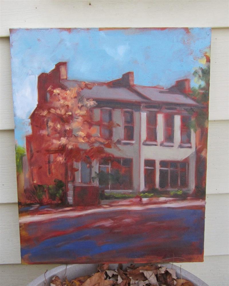 """""""Lafayette Park houses"""" original fine art by Sandy Haynes"""