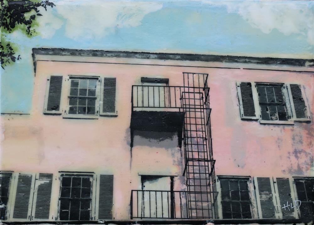 """Bahamian Fire Escape"" original fine art by Heather Douglas"