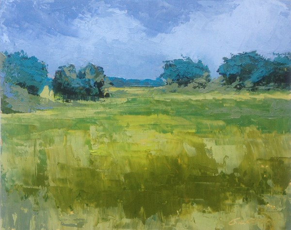 """""""Marsh, Coming Storm"""" original fine art by Mary Gilkerson"""