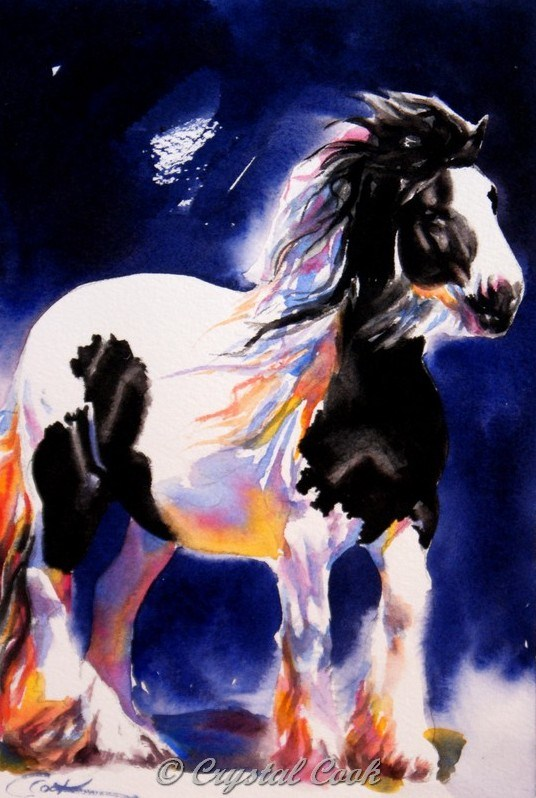 """Truffle"" original fine art by Crystal Cook"