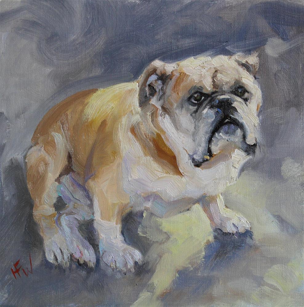 """Sweet Ol' Bulldog"" original fine art by H.F. Wallen"