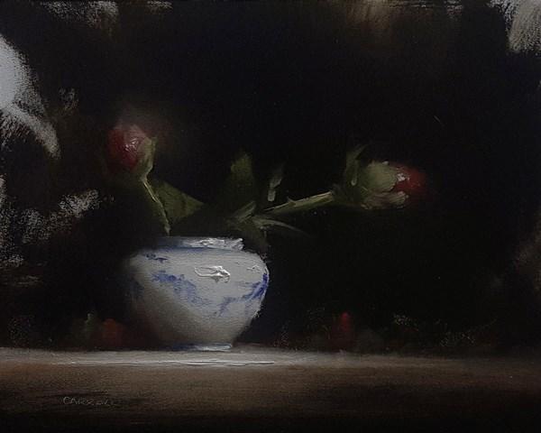 """Peony Buds"" original fine art by Neil Carroll"