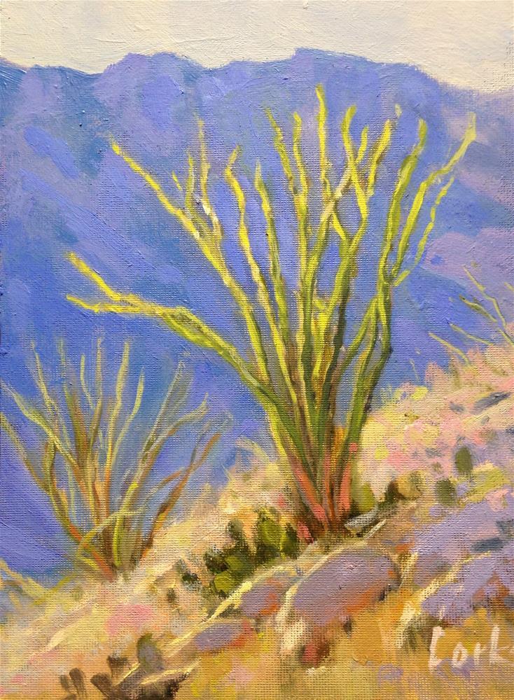 """""""Chilicotal Ocatillo"""" original fine art by David Forks"""
