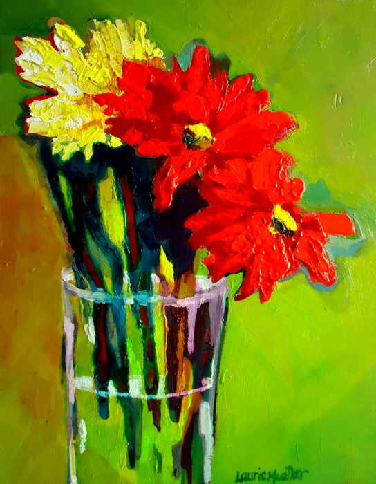 """""""Abstract Floral"""" original fine art by Laurie Mueller"""