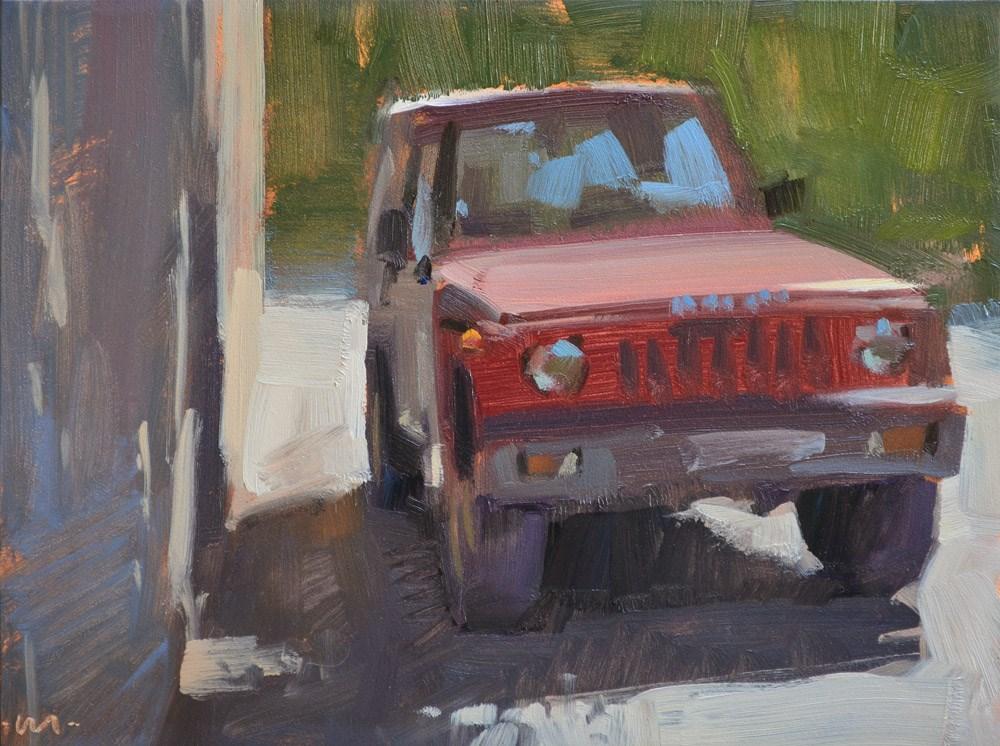 """""""Getaway Car"""" original fine art by Carol Marine"""