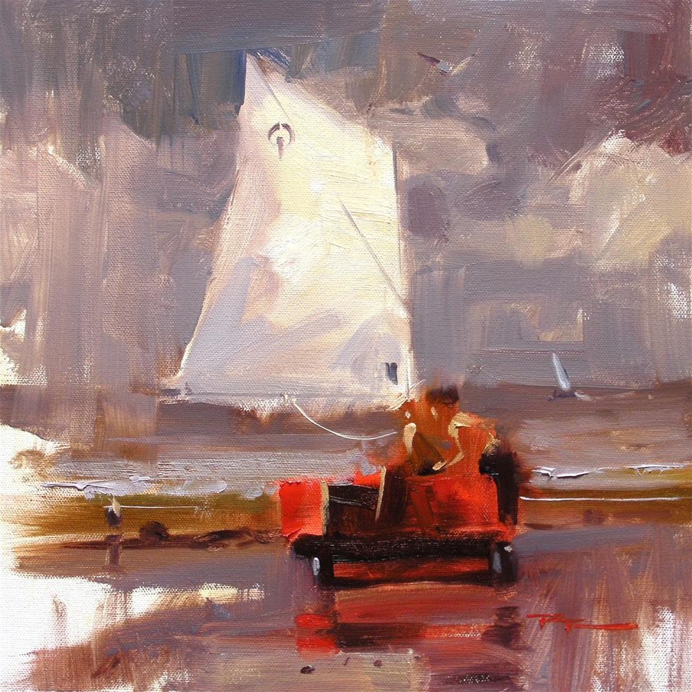 """The Red Boat"" original fine art by Richard Robinson"