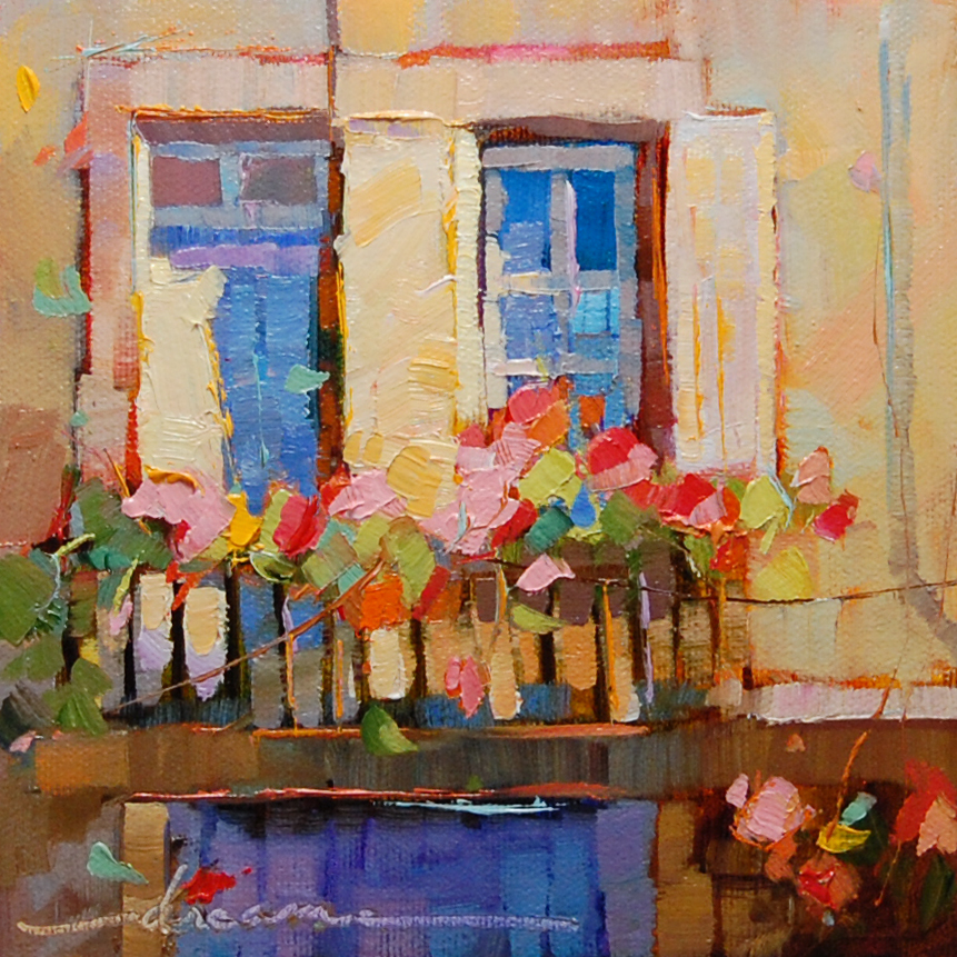 """Pieces of Pink Outside of Paris"" original fine art by Dreama Tolle Perry"