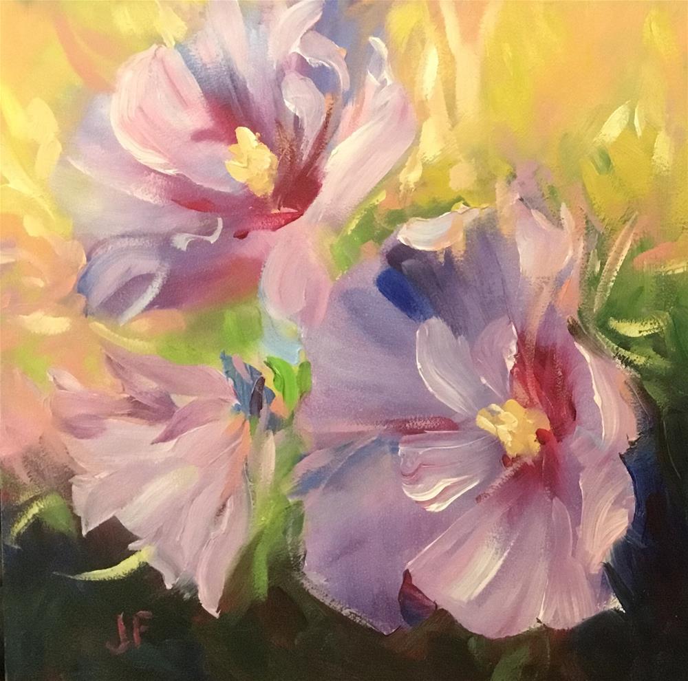 """Rose of Sharon"" original fine art by Charlotte Fitzgerald"