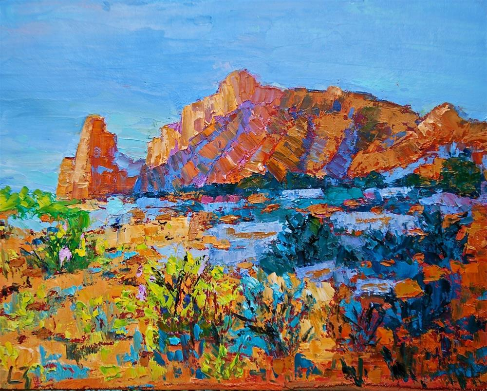 """Desert Shadows"" original fine art by Liz Zornes"