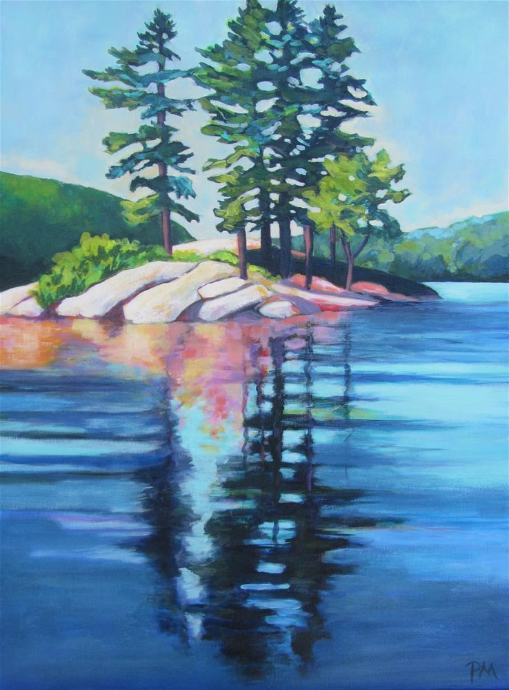 """Redstone Morning"" original fine art by Patricia MacDonald"