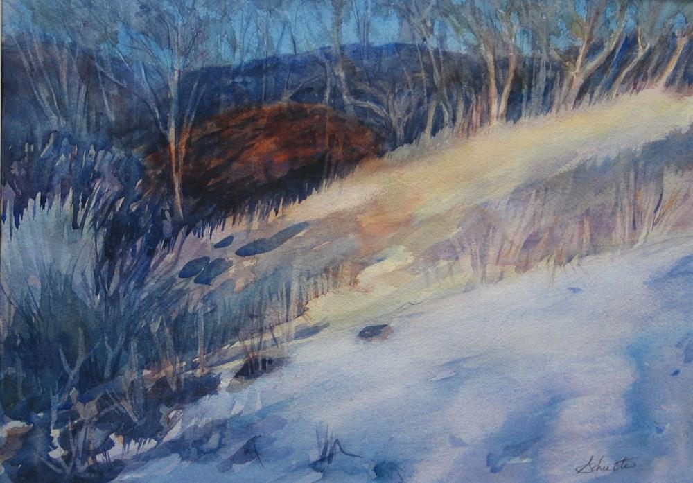 """Matted Sunlit Winter Day"" original fine art by Lynne Schulte"