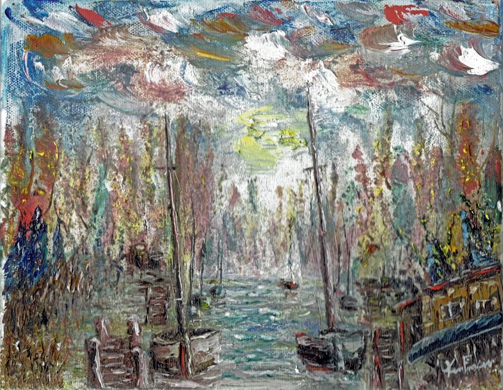 """""""The Canal"""" original fine art by Ken Fraser"""