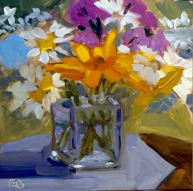 """""""Orange Dominates"""" original fine art by Elizabeth Bish"""