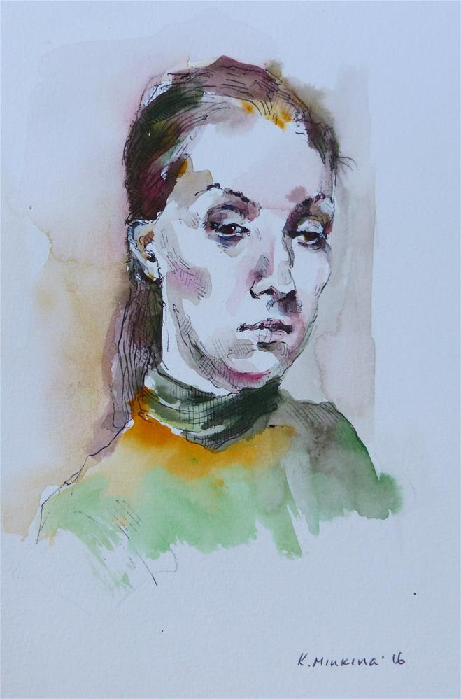 """sketchbook#26"" original fine art by Katya Minkina"