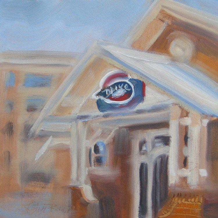 """Greenville Drive - 404"" original fine art by Laura  Buxo"