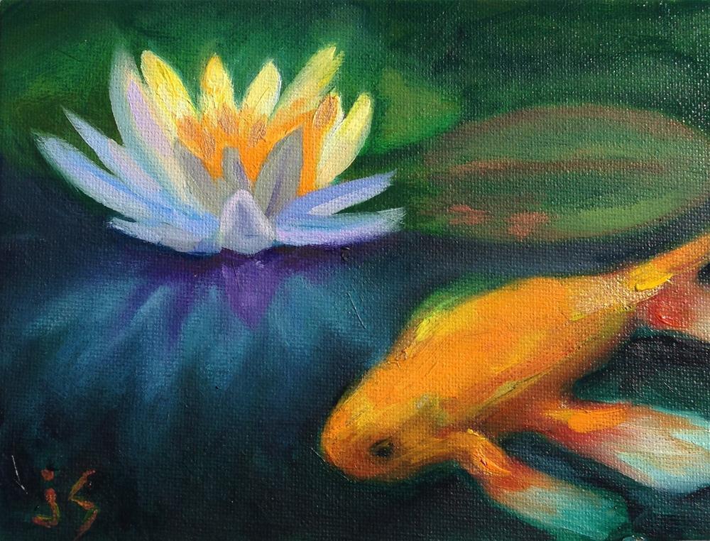 """""""Lily Koi"""" original fine art by Johnna Schelling"""