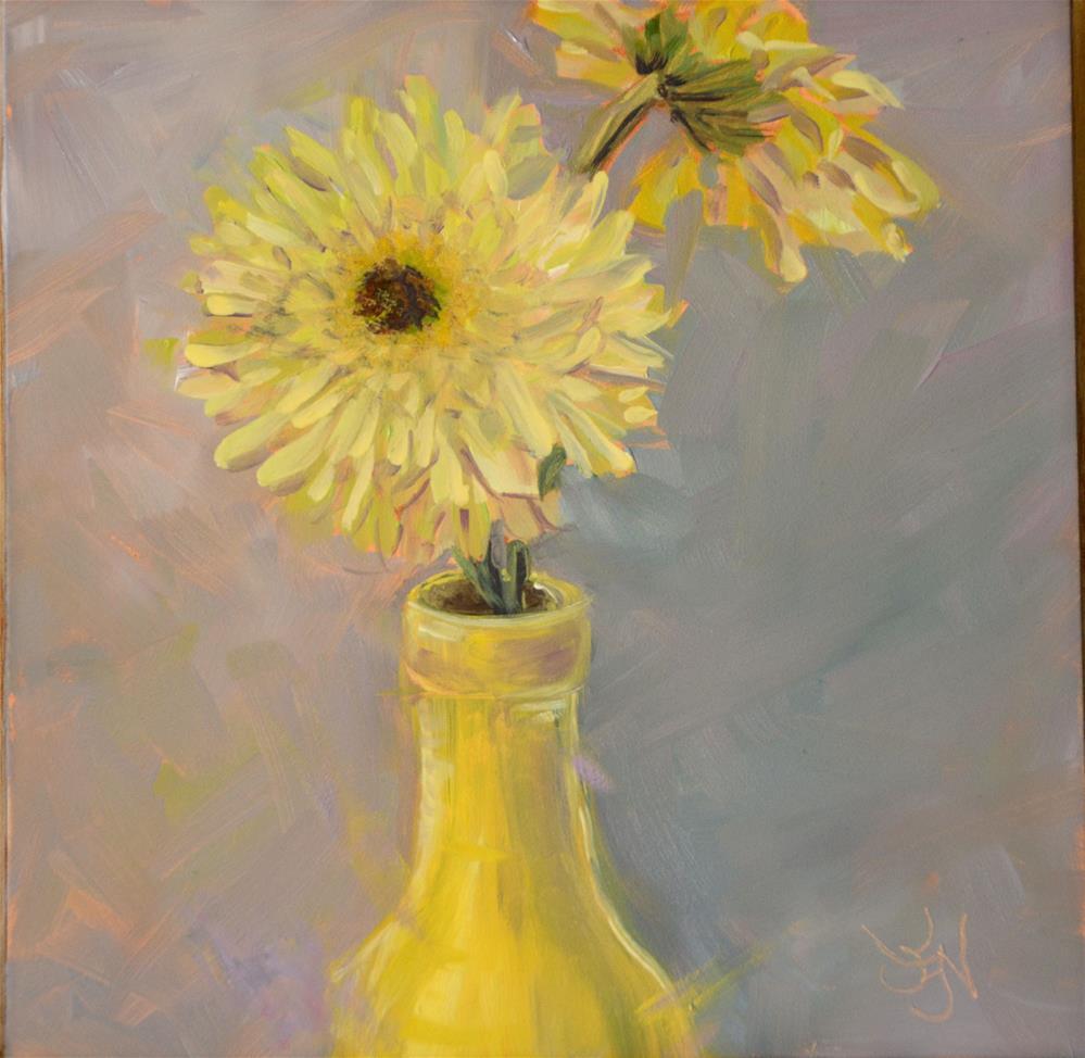 """""""Yellow Bottle Love"""" original fine art by Jan Jackson"""